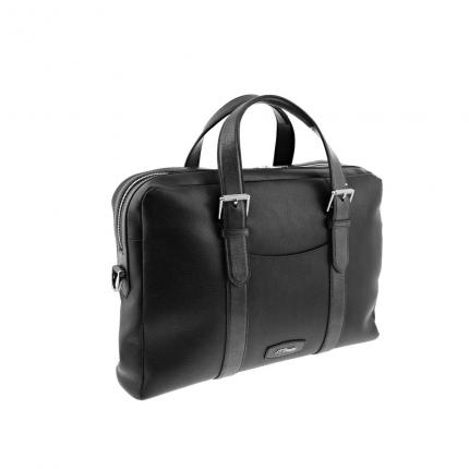 Porte documents ordinateur Line D Soft grained cuir noir