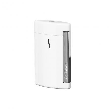 Briquet Minijet Blanc & Chrome
