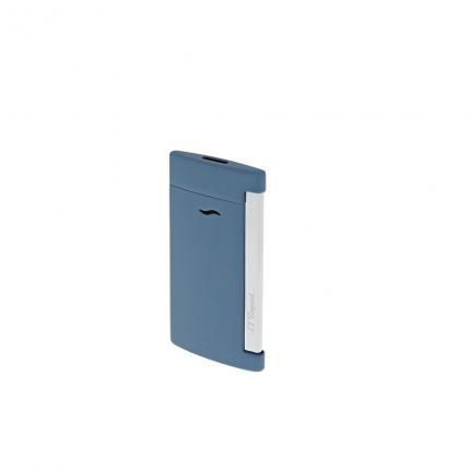 Briquet Slim 7 bleu mat & chrome